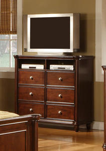 Hamilton Media Cabinet (Dark Cherry Finish) - [HM100TV]