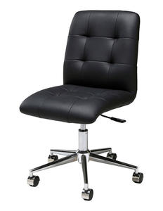 Hoquiam Office Chair (Chrome, Aluminum & Black Finish) - [HQ-164-CH-979]