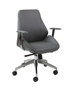 Isobella Office Chair (Chrome, Aluminum & Grey Finish) - [IS-164-CH-AL-096]
