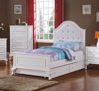 Jesse Trundle Bed - Twin (White Finish) - [JS700TB]