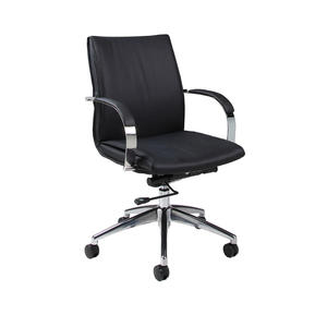 Josephina Office Chair (Chrome, Aluminum & Black Finish) - [JP-164-CH-AL-979]