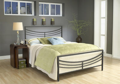 Kingston Bed (Brown Finish)