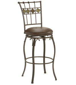 Lakeview Swivel Counter Stool Slate Accent (Brown Finish) - [4264-826]