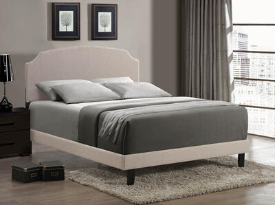 Lawler Bed (Cream Fabric) - [1299BQRL]