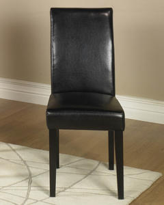 Leather Side Chair - Set of 2 (Black Leather) - [LCMD014SIBL]