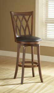 Mansfield Swivel Counter Stool (Brown Cherry Finish) - [4975-828]