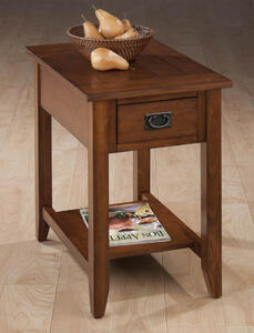 Mission Oak Chairside Table - [1032-7]