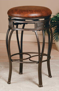 Montello Backless Swivel Counter Stool (Old Steel Finish) - [4361-827]