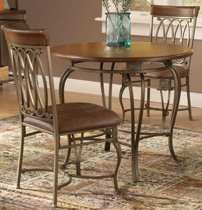 Montello Small Round Dining Set (Old Steel Finish) - [41541DTB36C3]
