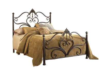 Newton Bed (Antique Brown Highlight Finish)