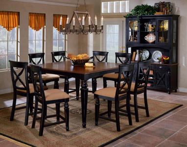 Northern Heights Counter Height Dining Set (Black & Cherry Finish) - [4439DTBSG9]
