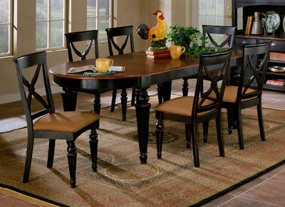 Northern Heights Dining Table (Black & Cherry Finish) - [4439-816]