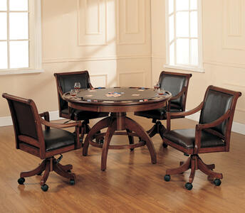 Palm Springs Game Table (Medium Brown Cherry Finish) - [4185GTB]
