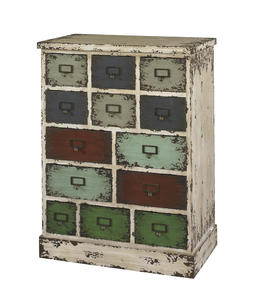 Parcel Cabinet (Distressed White) - [990-333]