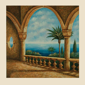 Portico Canvas Art (Hand-Painted Finish) - [7200-177EC]