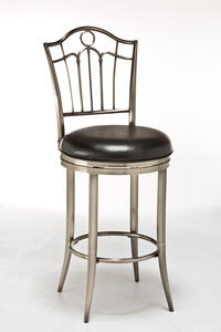 Portland Swivel Bar Stool (Antique Pewter Finish) - [5174-831]