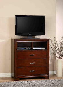 Raven Media Cabinet (Dark Cherry Finish) - [RV255TV]