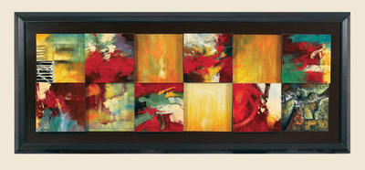 Red Abstract Canvas Art - [7200-766EC]