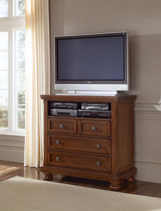 Reflections Entertainment Center (Medium Cherry Finish)