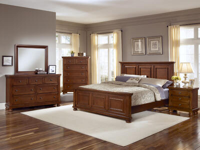 Reflections Mansion Panel Bedroom Set (Medium Cherry Finish)