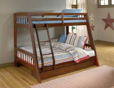 Rockdale Bunk Bed (Cherry Finish) - [1608BB]