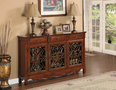 Scroll Console (Walnut) - [246-335]