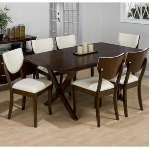 Stain Walnut Rectangular Top Dining Table - [433-72B+433-72T]