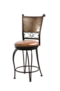 Stamped Back Counter Stool (Bronze with Muted Copper) - [222-918]