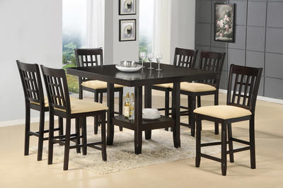 Tabacon Counter Height Gathering Table Set (Cappuccino Finish)