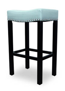 Tudor Counter Stool (Blue Bonded Leather & Chrome Nail) - [LCMBS013BASB26]