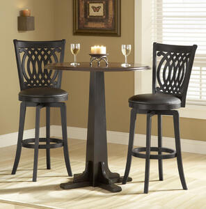 Van Draus Swivel Counter Stool and Flare Leg (Black Finish) - [4975-827]