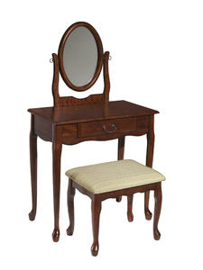 Vanity, Mirror & Bench (Woodland Cherry) - [605-290]