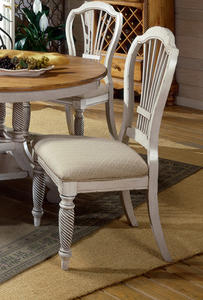 Wilshire Side Chair - Set of 2 (Antique White Finish) - [4508-802]